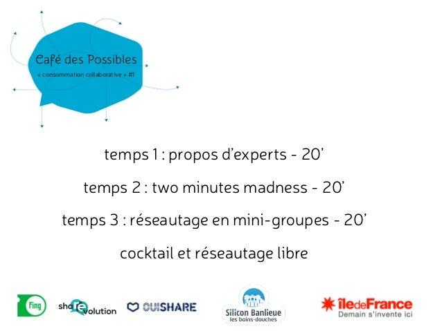 Présentations Café des Possibles ShaREvolution à Argenteuil - Silicon Banlieue - Les Bains-Douches Slide 3