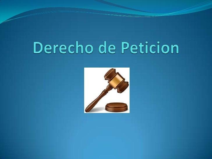 """Artículo 23 de la Constitución Nacional: """"Toda persona tiene derecho a presentar peticiones respetuosas a las autoridades ..."""