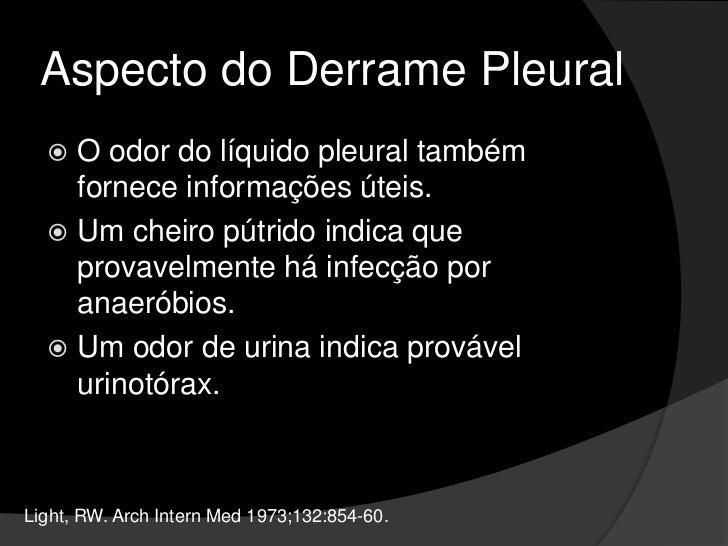 Indicações de Toracocentese<br />Não é necessário realizar rotineiramente radiografia de tórax após toracocentese, salvo s...