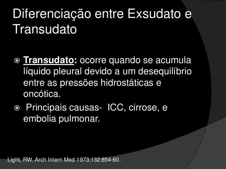 Aspecto do Derrame Pleural<br />O odor do líquido pleural também fornece informações úteis. <br />Um cheiro pútrido indica...