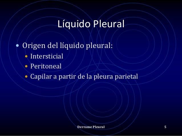Líquido Pleural • Origen del líquido pleural: • Intersticial • Peritoneal • Capilar a partir de la pleura parietal Derrame...
