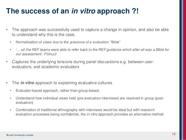 The in-vitro approach: Qualitative methodology to explore panel based…
