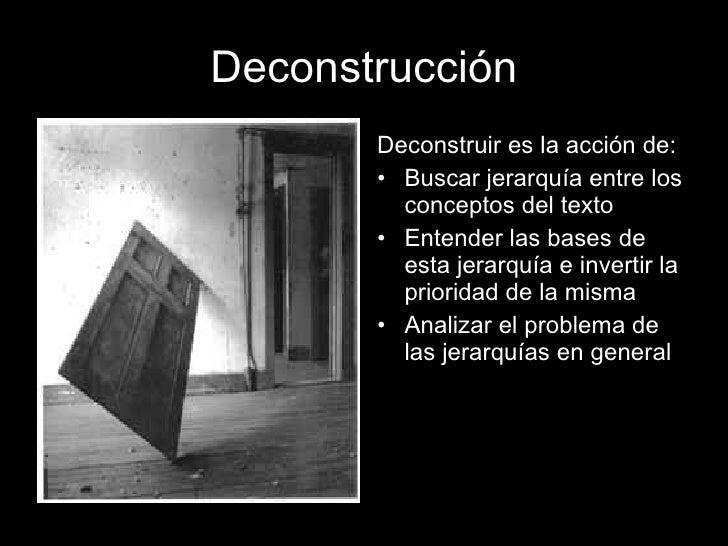Resultado de imagen de deconstruccionismo