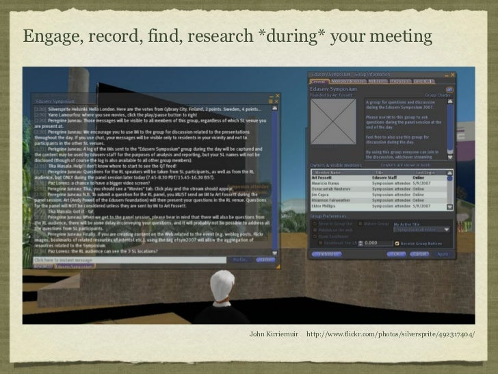 Engage, record, find, research *during* your meeting                            John Kirriemuir   http://www.flickr.com/ph...
