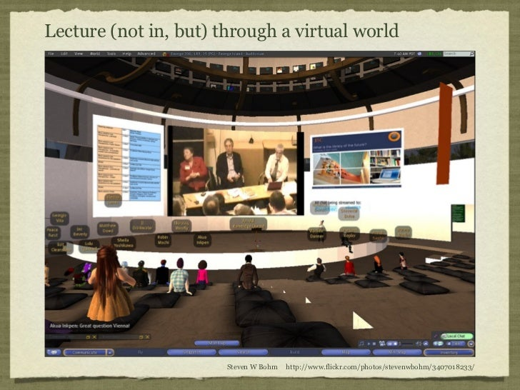 Lecture (not in, but) through a virtual world                       Steven W Bohm   http://www.flickr.com/photos/stevenwbo...