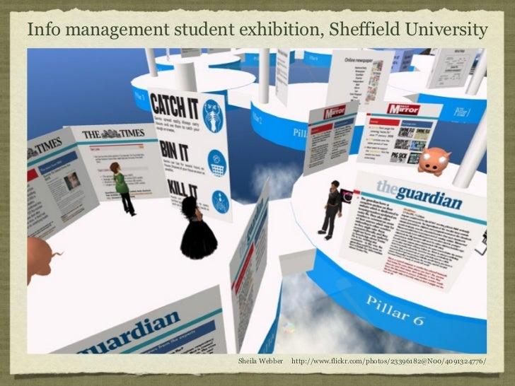 Info management student exhibition, Sheffield University                         Sheila Webber   http://www.flickr.com/pho...