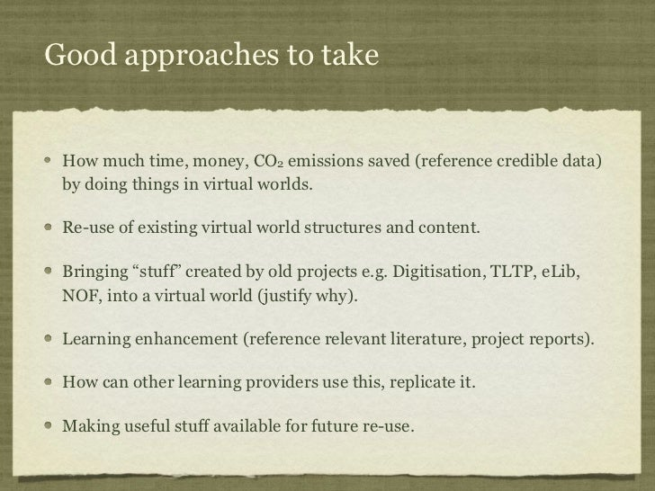 Good approaches to take How much time, money, CO2 emissions saved (reference credible data) by doing things in virtual wor...