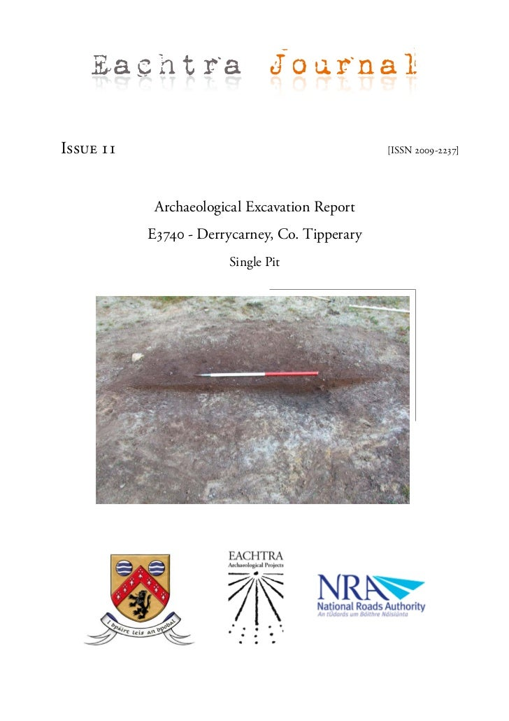 Eachtra JournalIssue 11                                        [ISSN 2009-2237]            Archaeological Excavation Repor...