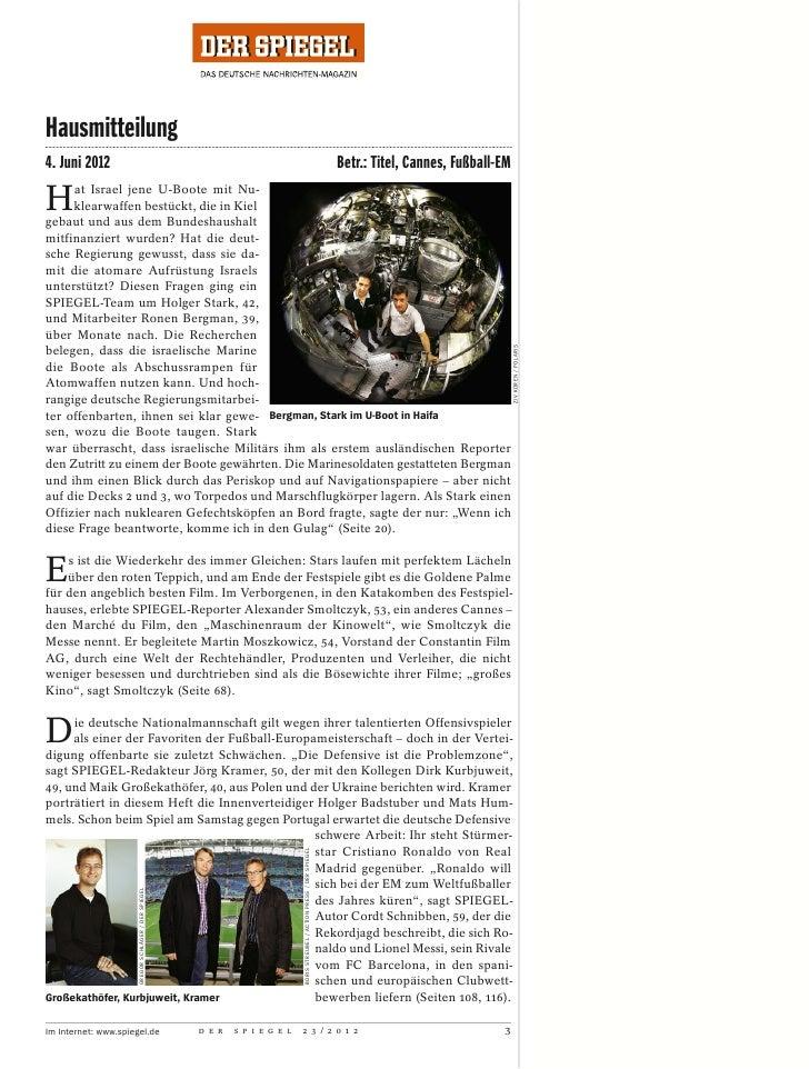 Der spiegel 2012 23 mit grosser hells angel reportage for Reportage spiegel