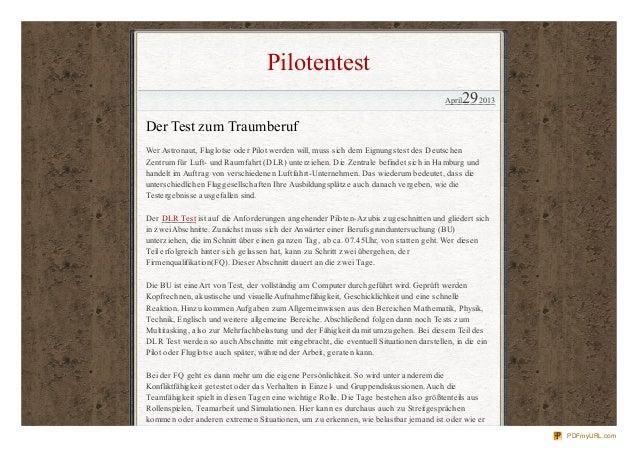 PilotentestApril292013Der Test zum TraumberufWer Astronaut, Fluglotse oder Pilot werden will, muss sich dem Eignungstest d...