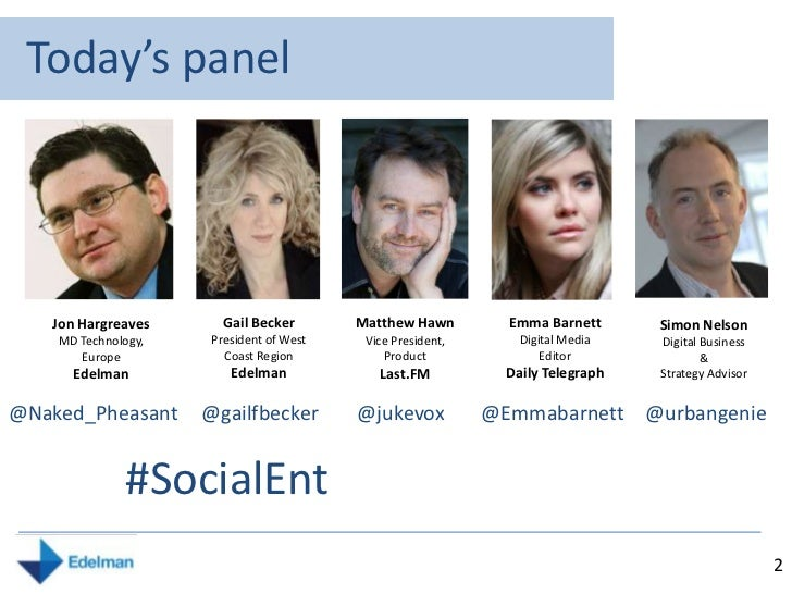 Value, Trust and Engagement in an era of Social Entertainment  Slide 2