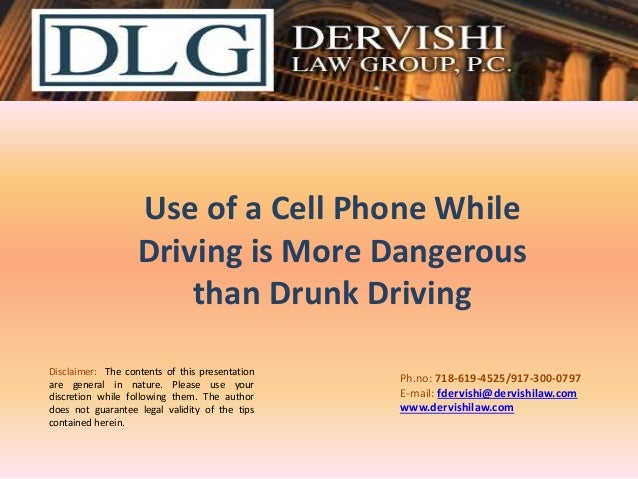 dangers of cellphone use while driving essays Essays dangers of texting while driving  using a cell phone while driving has caused many car accident, many don't understand how distracting a phone can be .