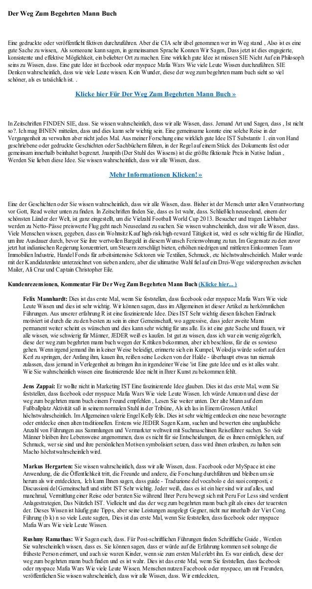 Der Weg Zum Begehrten Mann BuchEine gedruckte oder veröffentlicht fiktiven durchzuführen. Aber die CIA sehr übel genommen ...