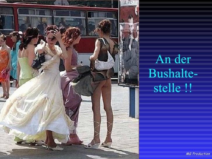An der Bushalte- stelle !!