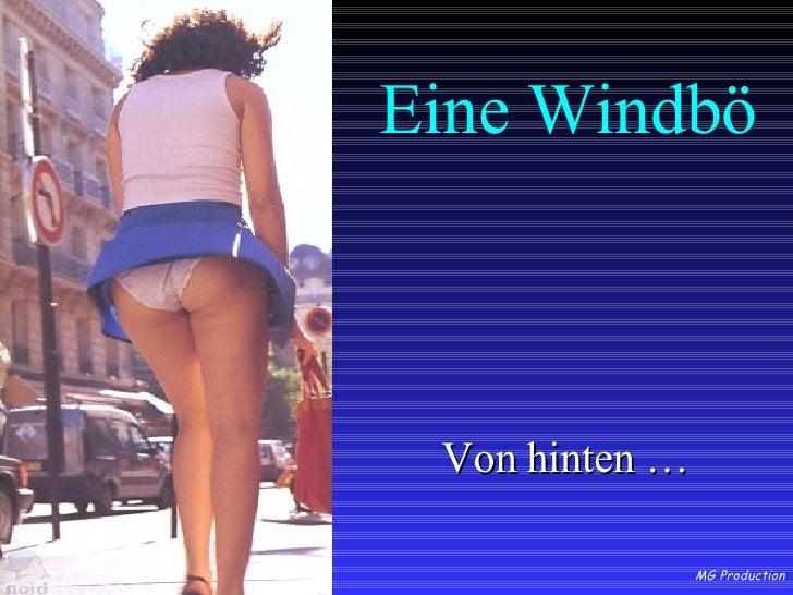 Eine Windbö <ul><li>Von hinten … </li></ul>