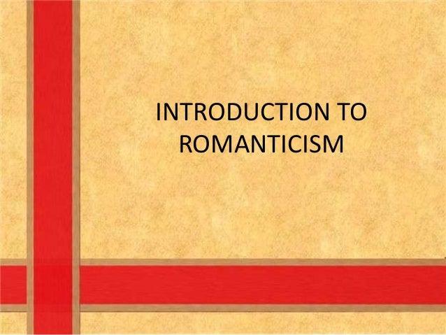 Introduction romanticism