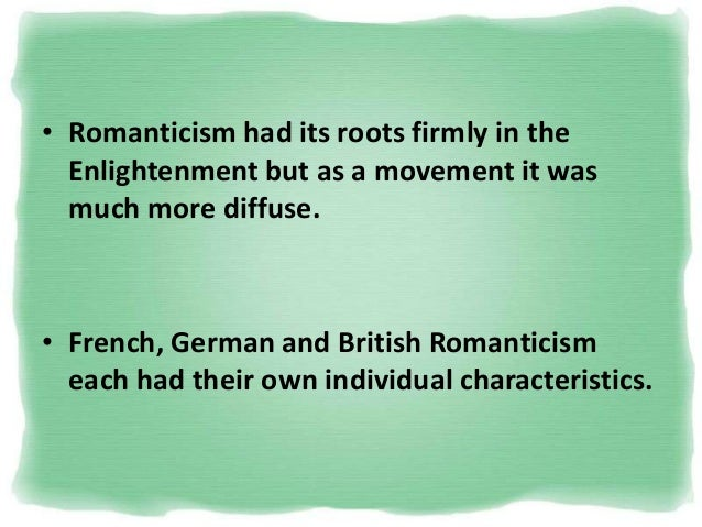introduction romanticism Start studying introduction to romanticism learn vocabulary, terms, and more with flashcards, games, and other study tools.
