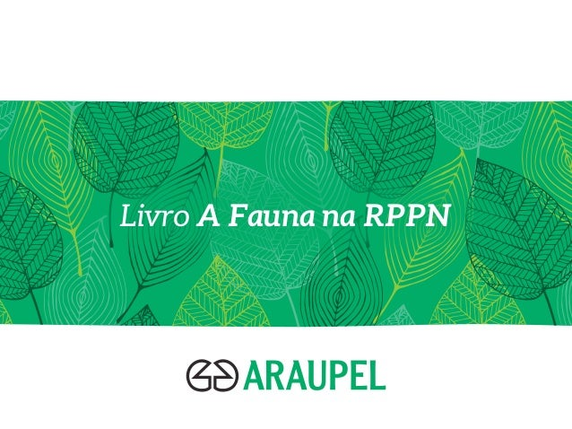 Livro A Fauna na RPPN