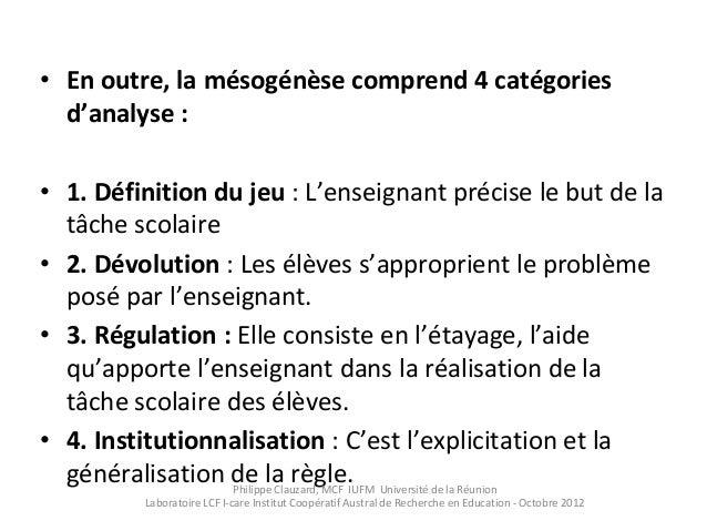 Des Categories D Analyse Du Faire Classe