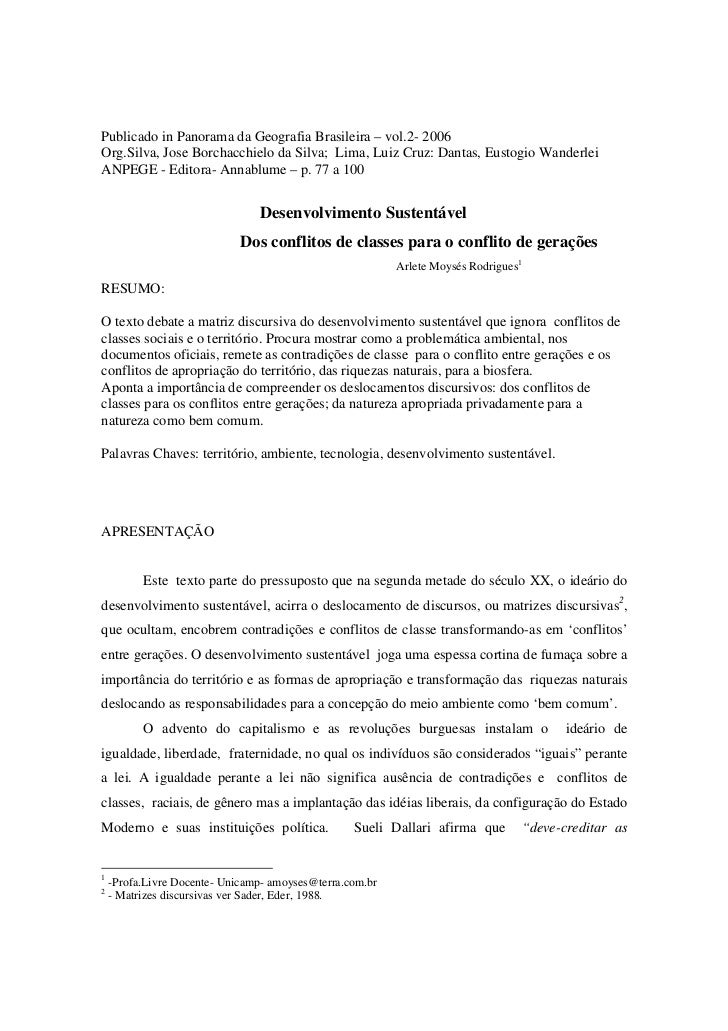 Publicado in Panorama da Geografia Brasileira – vol.2- 2006Org.Silva, Jose Borchacchielo da Silva; Lima, Luiz Cruz: Dantas...