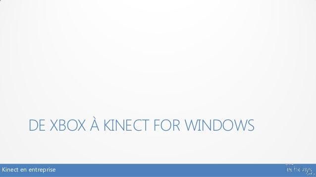 DE XBOX À KINECT FOR WINDOWSKinect en entreprise