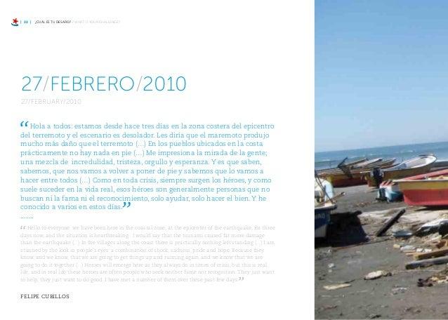 PESCADORES ARTESANALES / INDEPENDENT FISHERMEN | 27 | l jueves 4 de marzo de 2010, Felipe Cubillos mandó un correo a todos...