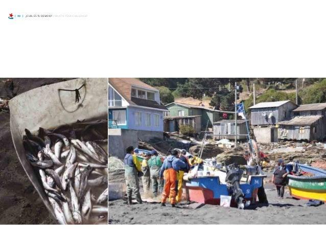 | 46 | ¿CUÁL ES TU DESAFIO? / WHAT IS YOUR CHALLENGE? Con el tsunami nosotros perdimos todas nues- tras herramientas, nos ...