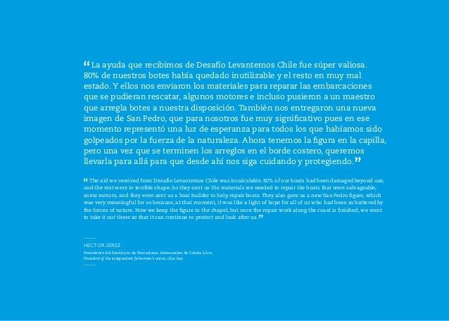PESCADORES ARTESANALES / INDEPENDENT FISHERMEN | 49 |