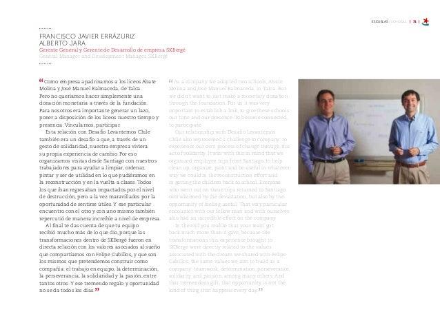 ESCUELAS / SCHOOLS | 77 | Conocer a Felipe Cubillos pocos días después del terremoto, la fuerza y el entusiasmo que ponía ...