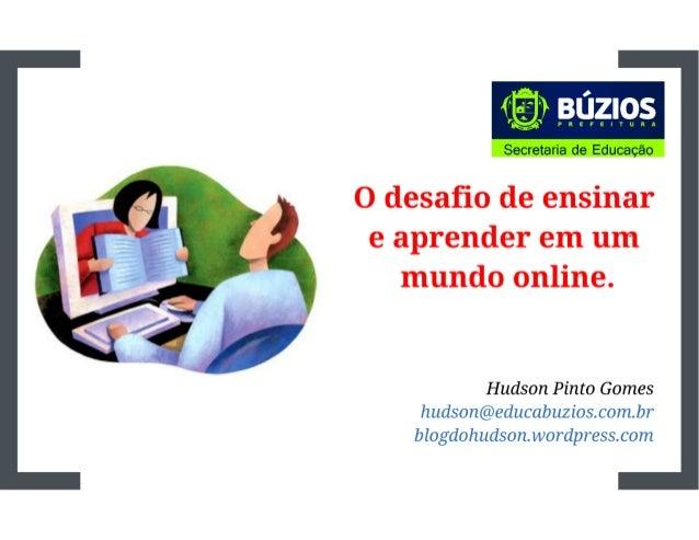 Desafio de ensinar e aprender online