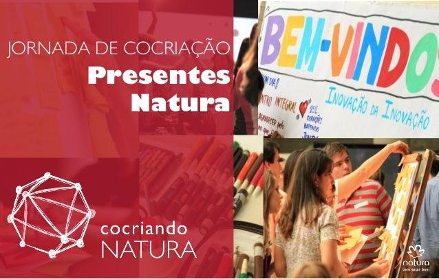 JORNADA DE COCRIAÇÃO  Presentes Natura  APRES LANÇAMENTO COCRIANDO NATURA GGI 20MAIO2013