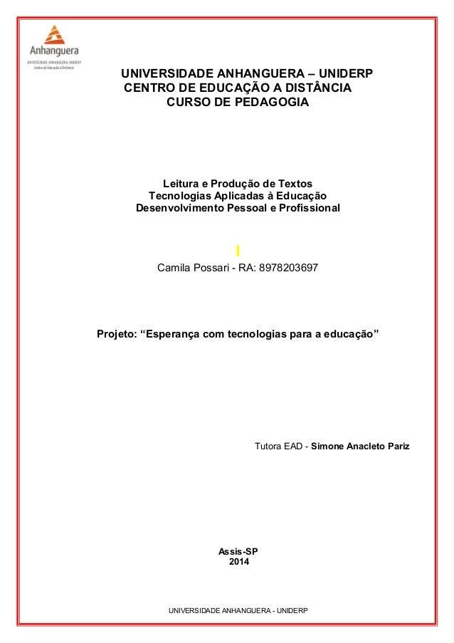 Desafio profissional curso pedagogia  licenciatura séries 3ª4ª 7