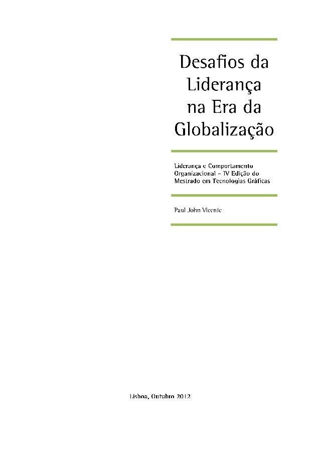 Mestrado em Tecnologias Gráficas – IV Edição                                                                      Lideranç...
