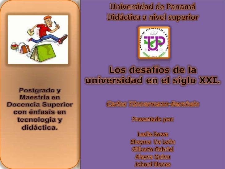 Postgrado y Maestría en Docencia Superior con énfasis en tecnología y didáctica.<br />Universidad de Panamá<br />Didáctica...