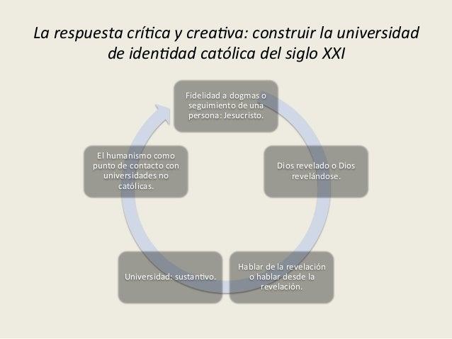 Algunas  tensiones   -‐Cultura  académica   -‐Universidad  de  iden<dad  católica   inclusiva   -‐Eth...