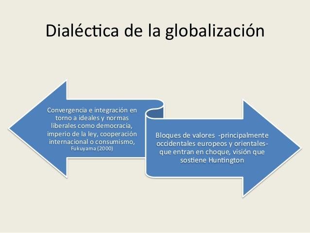 Dialéc<ca  de  la  globalización   Convergencia  e  integración  en   torno  a  ideales  y  normas...