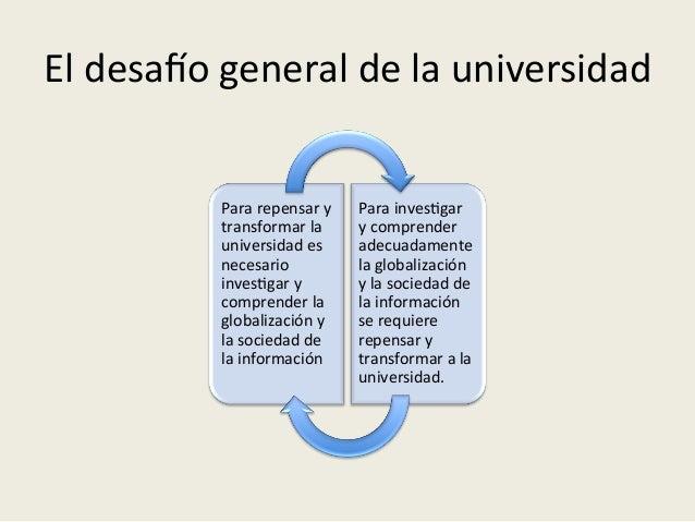 El  desaRo  general  de  la  universidad   Para  repensar  y   transformar  la   universidad  es ...