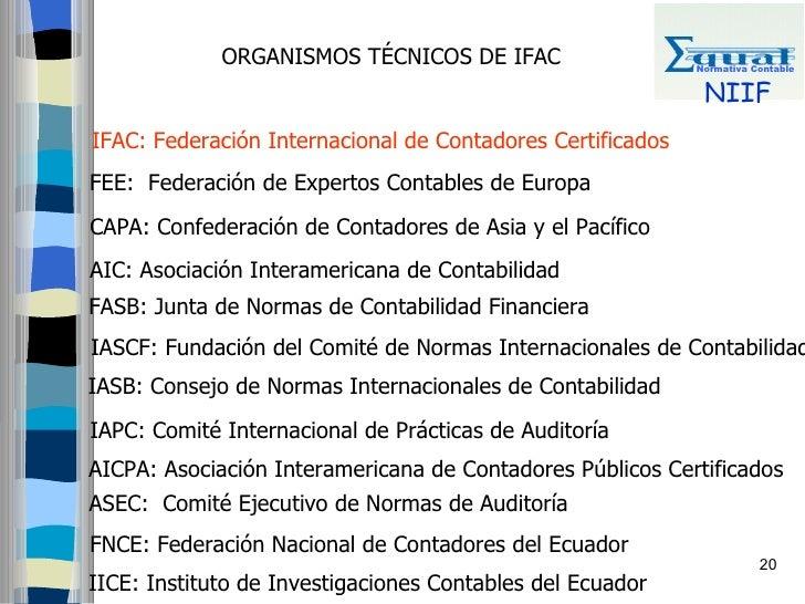 ORGANISMOS TÉCNICOS DE IFAC                    Normativa Contable                                                         ...