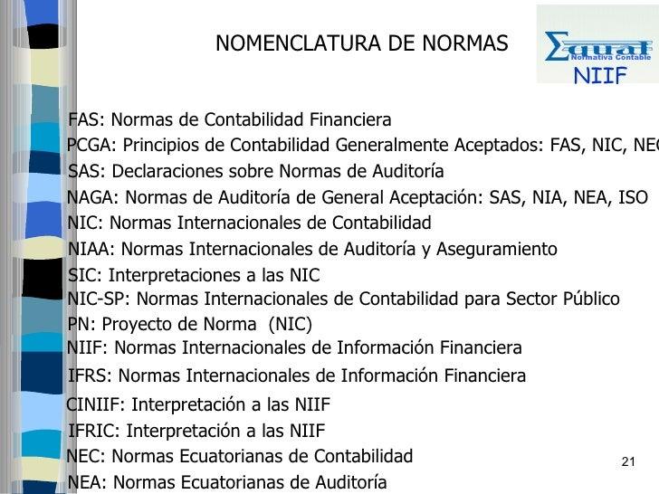 NOMENCLATURA DE NORMAS                   Normativa Contable                                                              N...