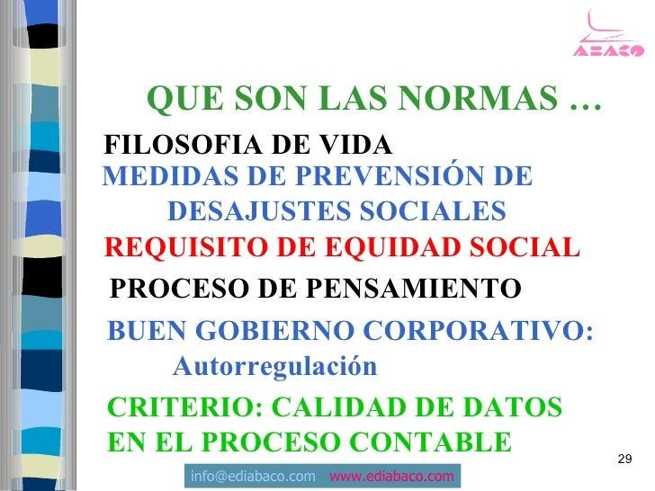 QUE SON LAS NORMAS … FILOSOFIA DE VIDA MEDIDAS DE PREVENSIÓN DE     DESAJUSTES SOCIALES REQUISITO DE EQUIDAD SOCIAL PROCES...