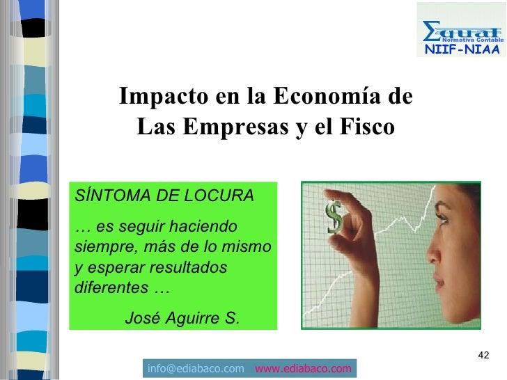 Normativa Contable                                               NIIF-NIAA        Impacto en la Economía de       Las Empr...