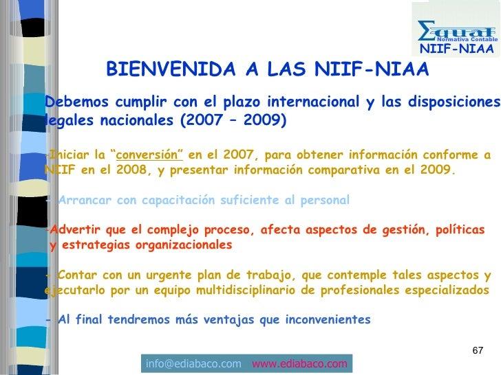Normativa Contable                                                                 NIIF-NIAA           BIENVENIDA A LAS NI...