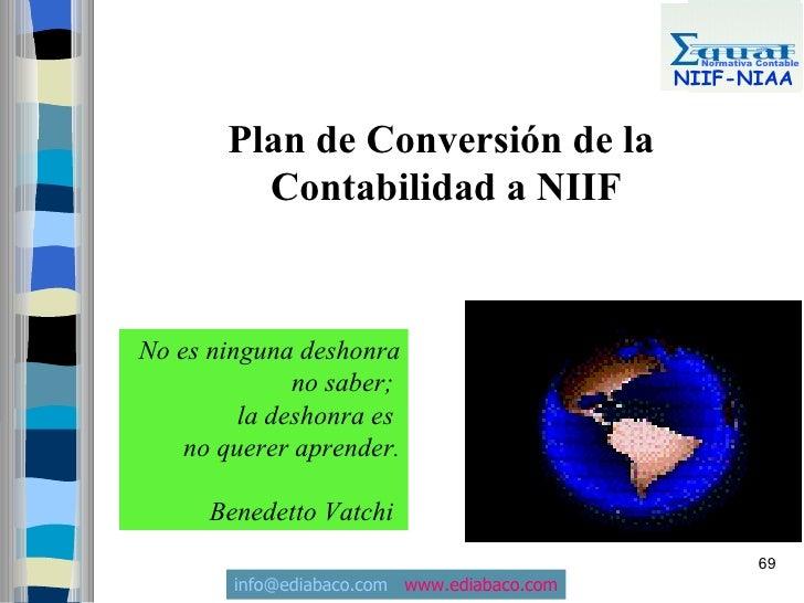 Normativa Contable                                               NIIF-NIAA          Plan de Conversión de la          Cont...