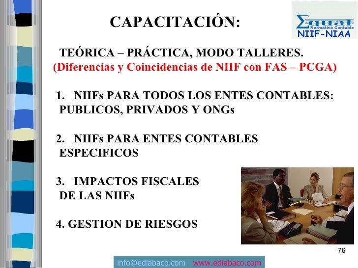 CAPACITACIÓN:                           Normativa Contable                                                  NIIF-NIAA   TE...