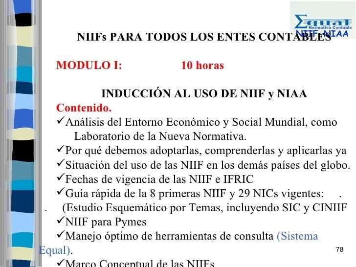 Normativa Contable                                        NIIF-NIAA        NIIFs PARA TODOS LOS ENTES CONTABLES     MODULO...