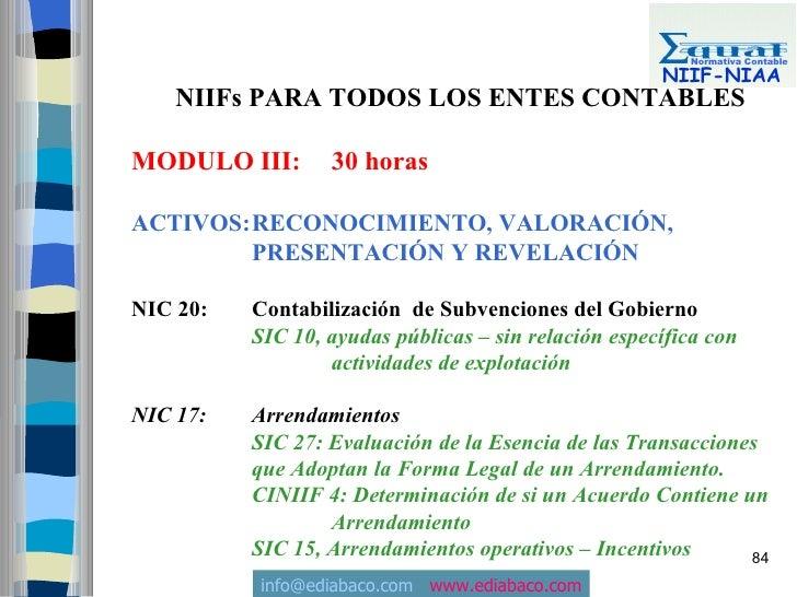 Normativa Contable                                                        NIIF-NIAA     NIIFs PARA TODOS LOS ENTES CONTABL...