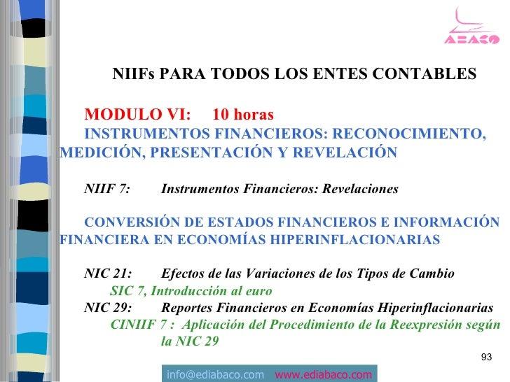 NIIFs PARA TODOS LOS ENTES CONTABLES    MODULO VI:          10 horas   INSTRUMENTOS FINANCIEROS: RECONOCIMIENTO, MEDICIÓN,...