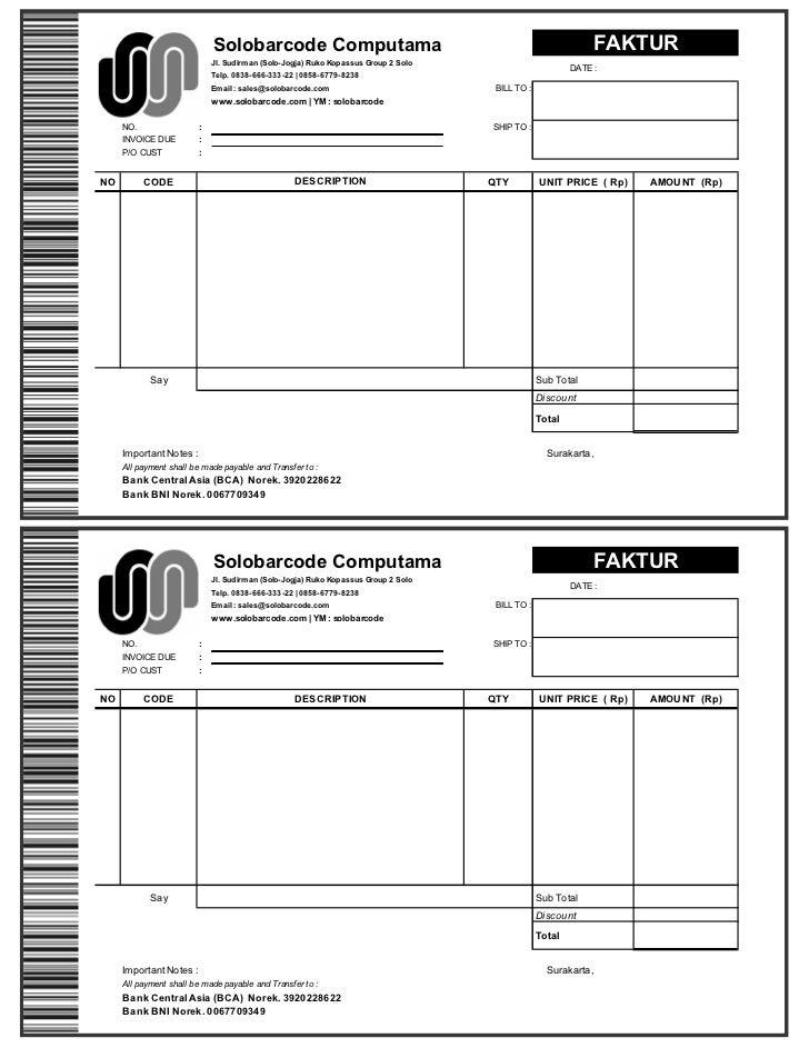 Contoh Invoice Download Contoh Raffa