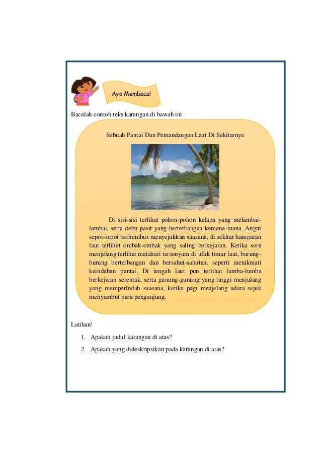 Desain Bahan Pembelajaran Menulis Karangan Di Kelas 4 Sekolah Dasar