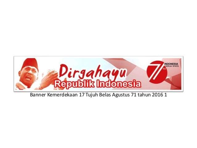 Desain Banner Dirgahayu Kemerdekaan 17 Agustus Indonesia